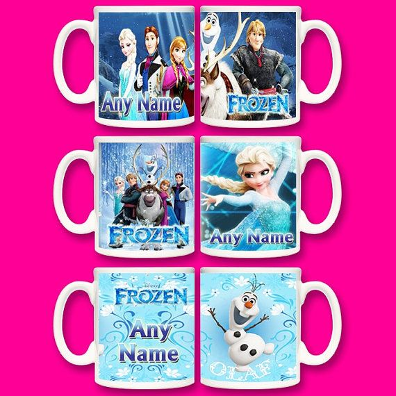 Personalised Frozen mug cup. Print any name door PrintMyPrezzie