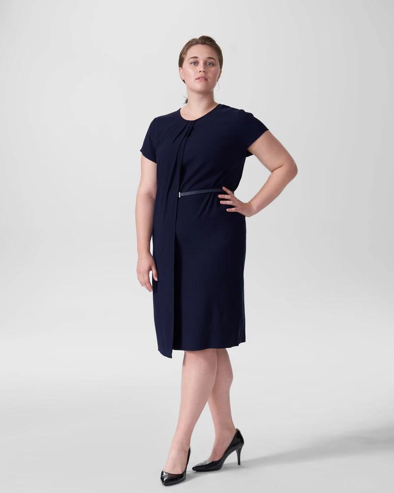 Polina Boardroom Dress - Navy - Universal Standard