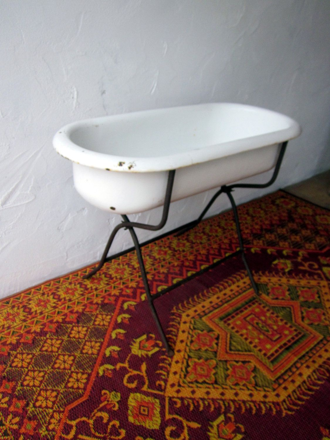 authentic vintage ANTIQUE baby BATHTUB with stand by welovelucite ...