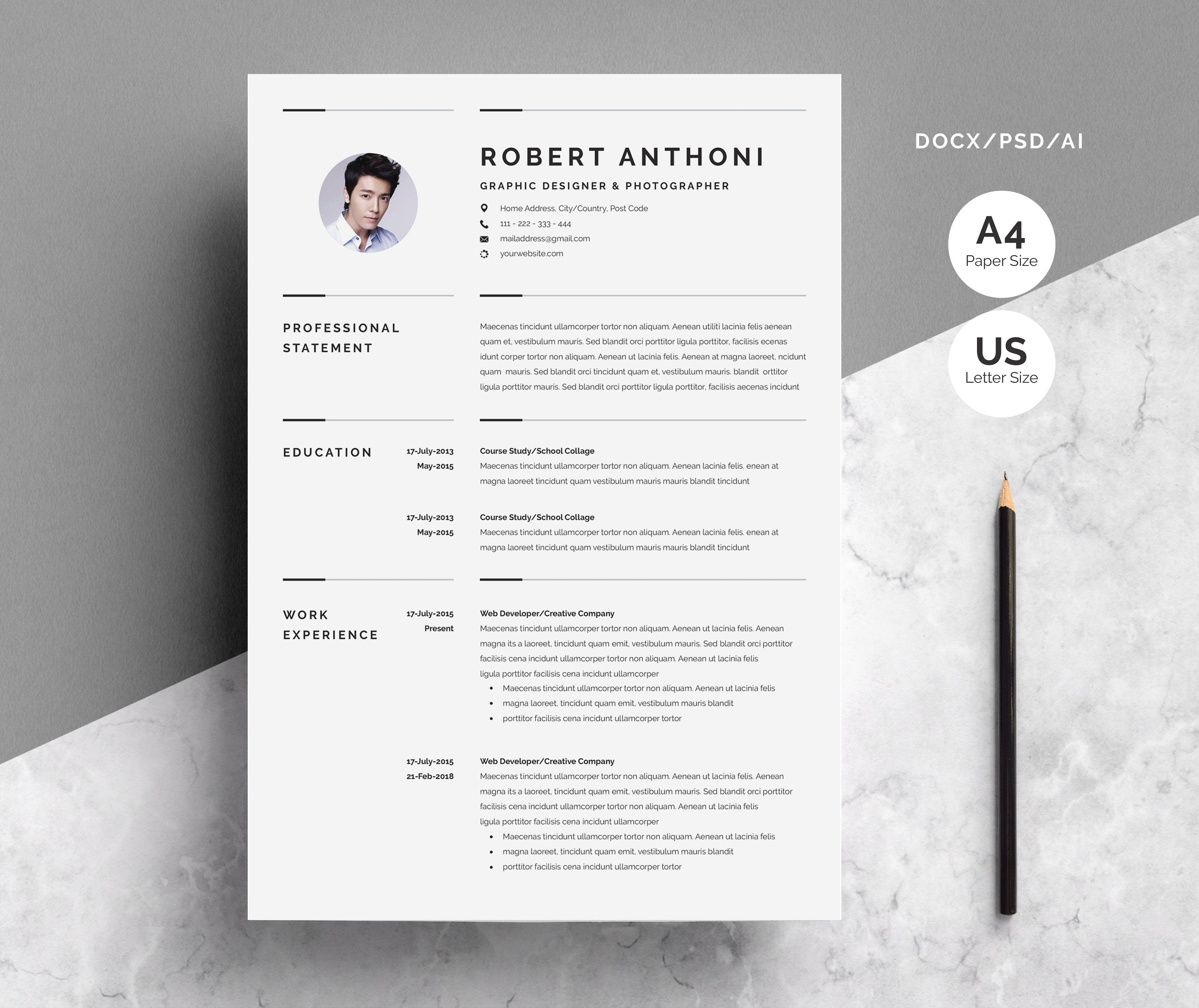 Creative Resume Template 3 Pages Creative Resume Templates