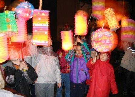 Sankt Martin we did this march thru Ramstein