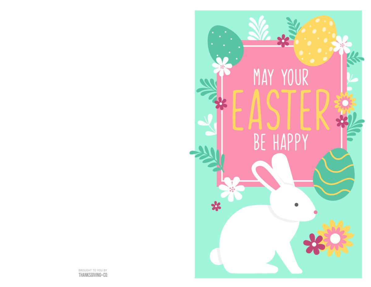 4 colorful printable easter cards to give to friends and