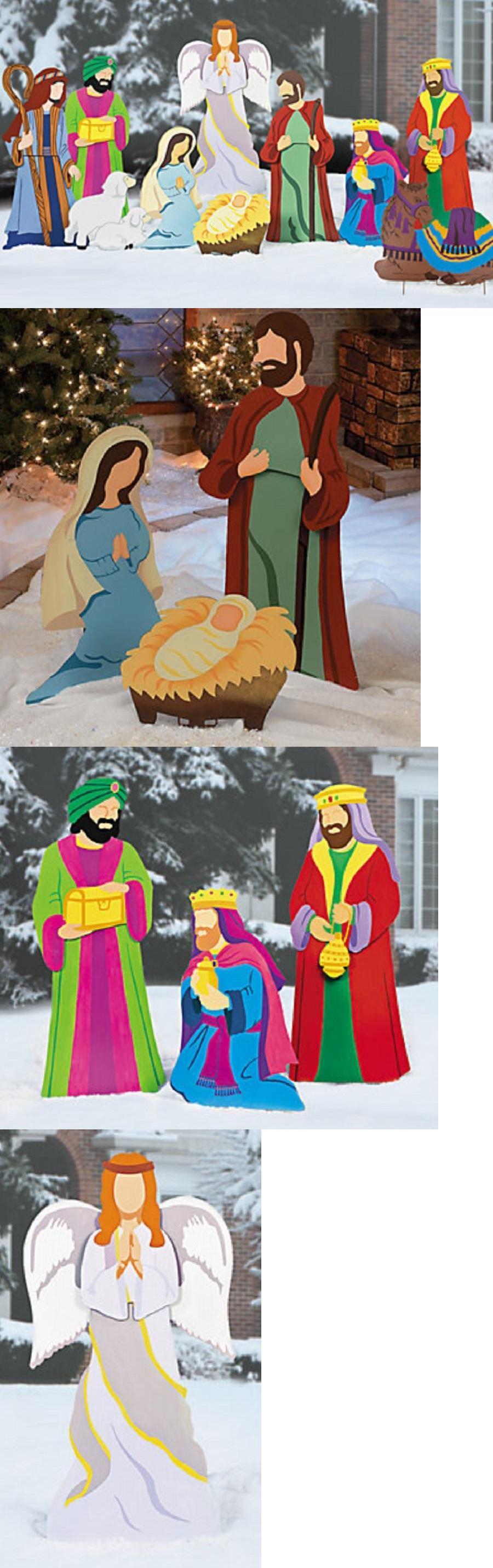Nativity Items Super Deluxe Outdoor Nativity Metal