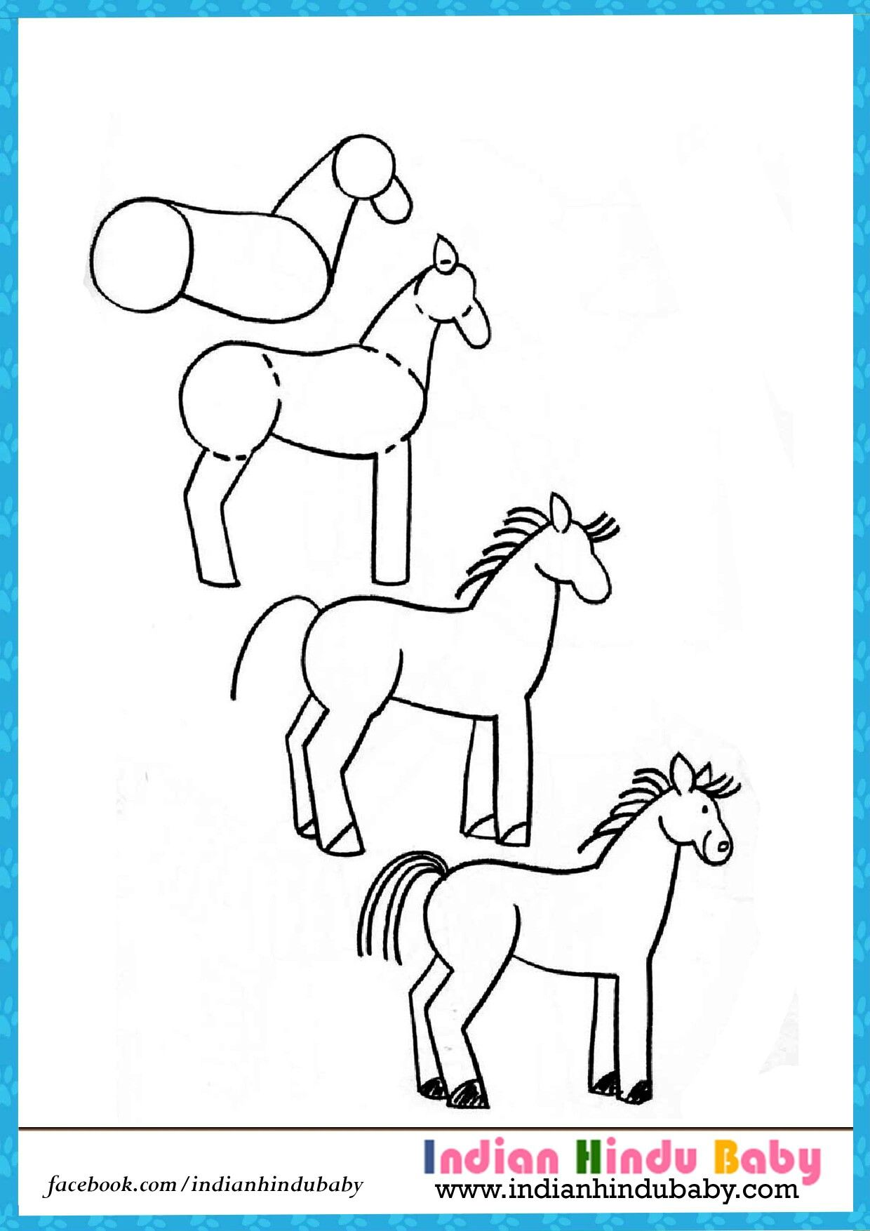 Horse Riding Is The Exciting Experience Someone Can Imagine. Teach Your Kid  To Draw U0027