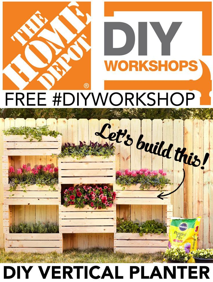 Learn how to build this beautiful vertical planter at Home Depot's on home depot plant labels, home depot flower tower, home depot herb planter, home depot soil test kits,