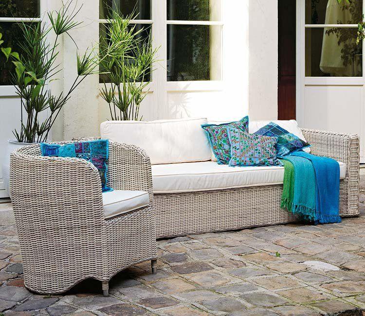 Telas frescas para vestir tu jard n y terraza deco ideas - Muebles para tapizar ...