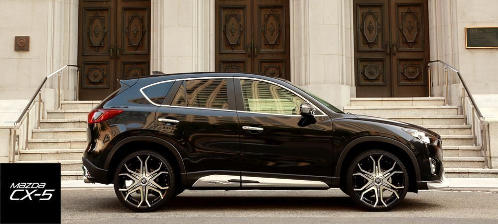 mazda cx 5 suv gets a silver chin from japanese tuner damd. Black Bedroom Furniture Sets. Home Design Ideas
