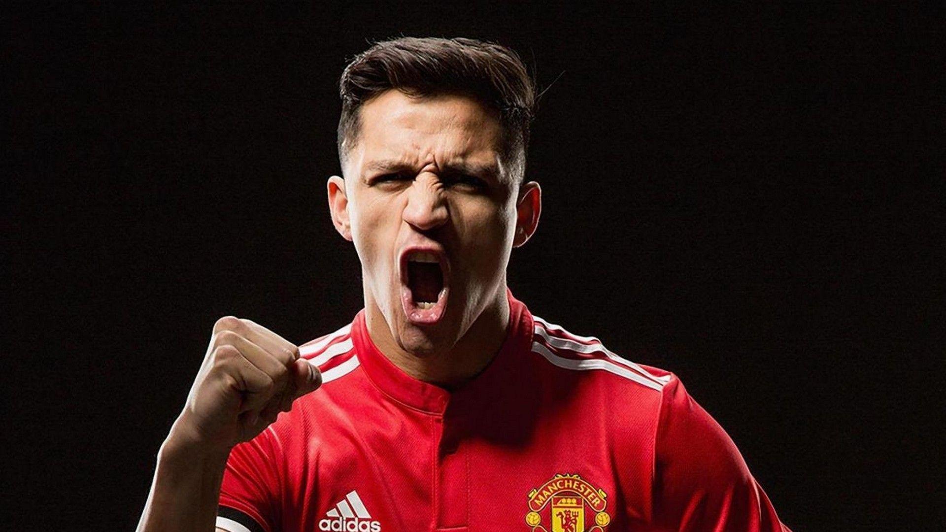 Alexis Sanchez Manchester United Desktop Wallpaper (With