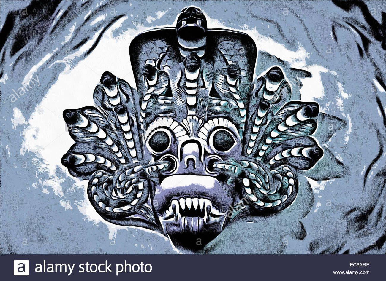 Download this stock image Illustration, masks, Lankan