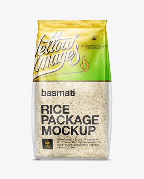 Download Bag W Basmati Rice Mockup In Flow Pack Mockups On Yellow Images Object Mockups Mockup Free Psd Rice Packaging Free Psd Mockups Templates