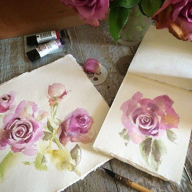 Время релаксации... Один большой заказ закончен, перед следующим беру выходной :) на цветы и другие нежности.  #акварель #акварельныйрисунок #цветы #рисунок #рисую #скетч #розы #aquarelle #watercolour #watercolor_painting #watercolor #paint #painting #floral #flowers #roses #relaxation #art #topcreator #moanart #Art_Fido #arts_help #arts_share #sketching #sketch #sketchbook #sketch_daily #canotstop