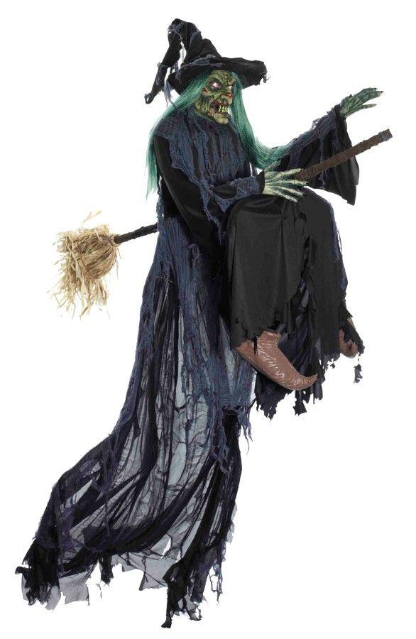 halloween decor n more witch flying halloweendecornmorecom