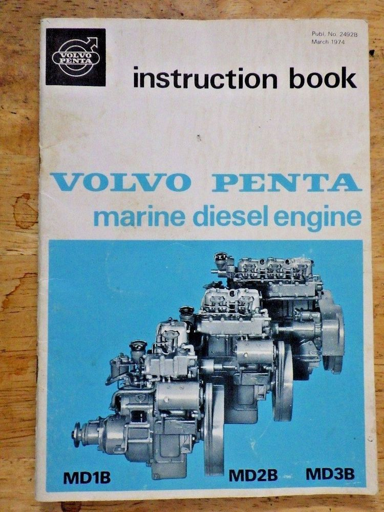 Volvo Penta Manual Marine Diesel Engine Instruction Book