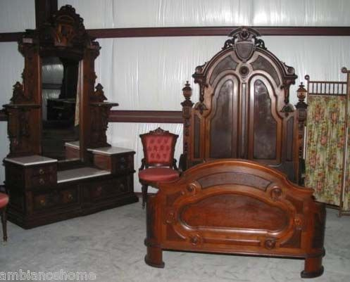 Explore Antique Beds, Antique Furniture, and more! Glamorous American Antique  Victorian Bedroom . - Antique Victorian Bedroom Furniture Antique Furniture
