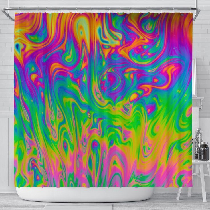 Psychedelic Shower Curtain Trippy Shower Curtains Bath Curtain Psychedelic Art T In 2020 Psychedelic Art Room Tapestry Trippy Gift