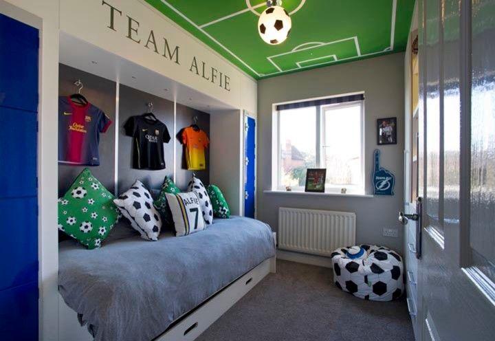 Jungen Schlafzimmer Ideen Schlafzimmer Fu 223 Ball