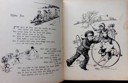 merry winter time antique victorian childrens christmas story book nister
