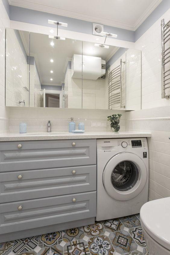 Small Bathroom-Laundry Ideas For Your Home #bathroomlaundry