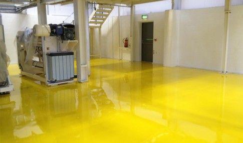yellow epoxy floor paint  Google Search  SHOP  Epoxy
