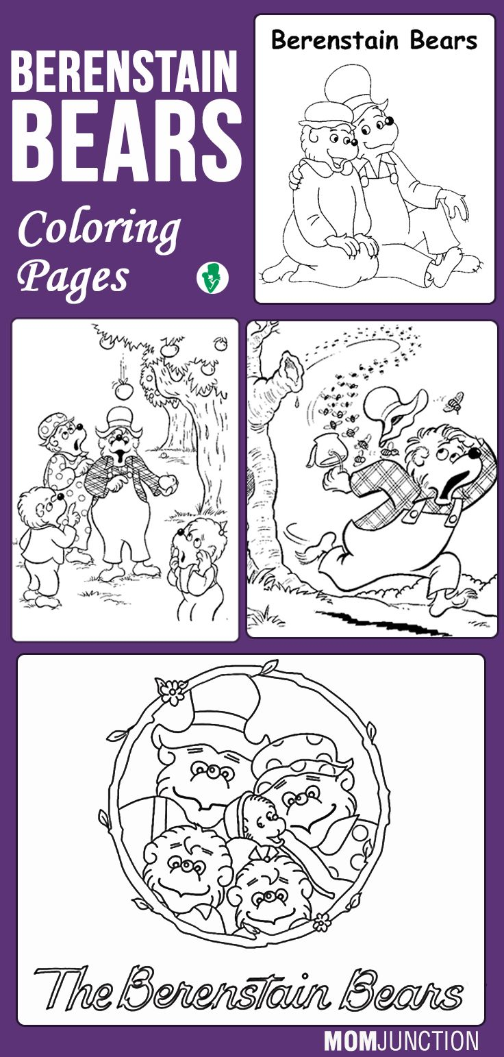 berenstain bears treehouse coloring pages - photo#11
