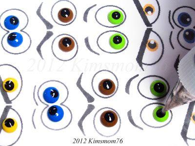 Kimsmom76: Jadalne puder Eyeballs- Tutorial