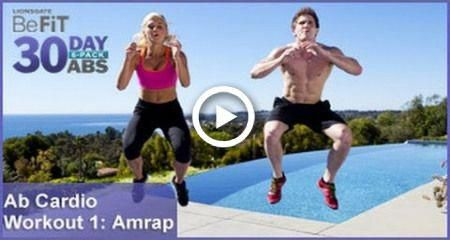 Ab Cardio Workout 1: Amrap | 30 DAY 6 PACK ABS #fitness #6packabsformenguys