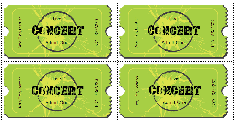 concert ticket template for word books i like pinterest ticket