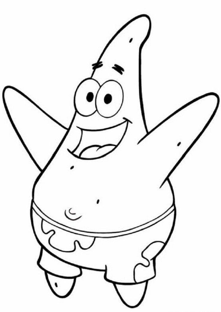 Spongebob Coloring Pages Patrick Star Spongebob Disney Leinwand