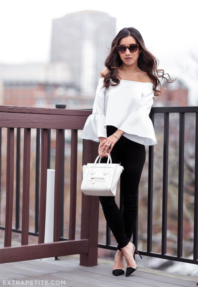 13db350001 black and white date night outfit    skinny jeans