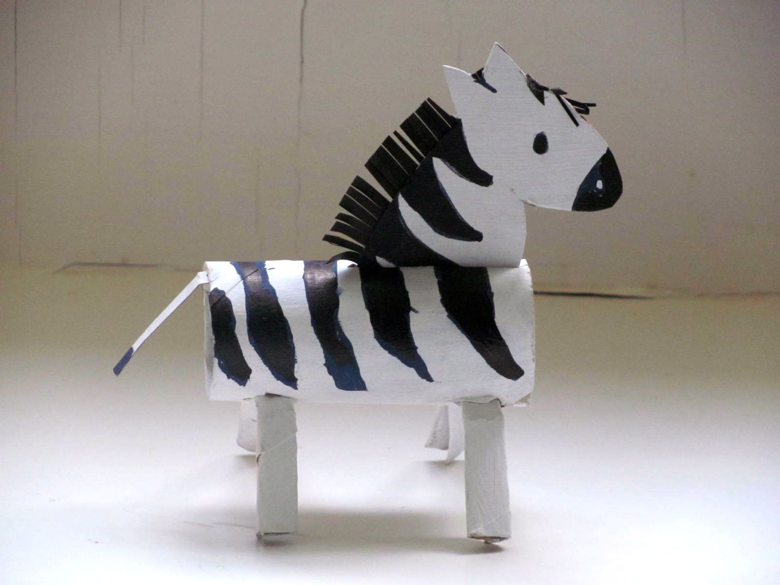 Diy Toilet Paper Roll Zebra Craft Toilet Paper Roll Crafts