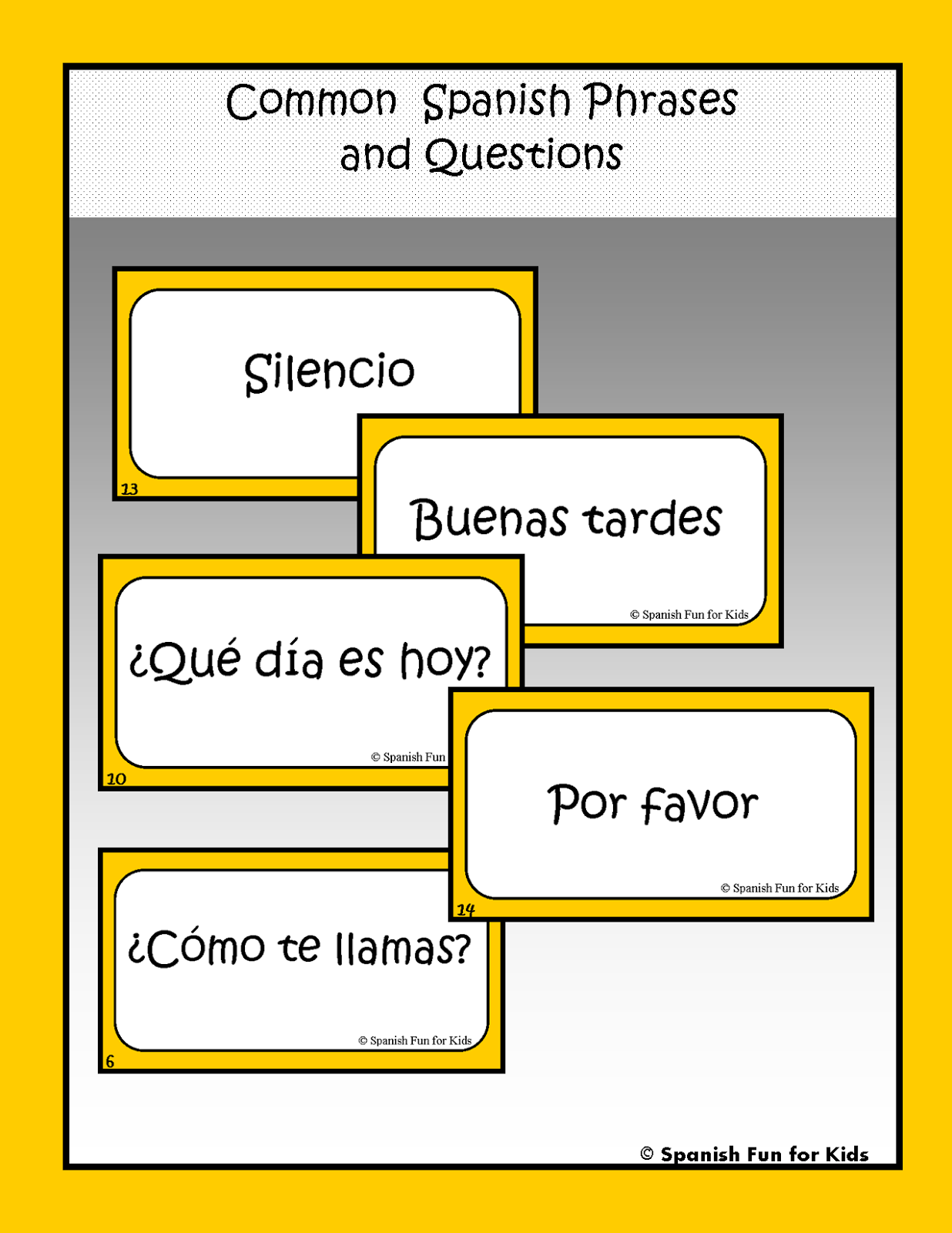 Common Spanish Phrases And Questions Great For Practicing