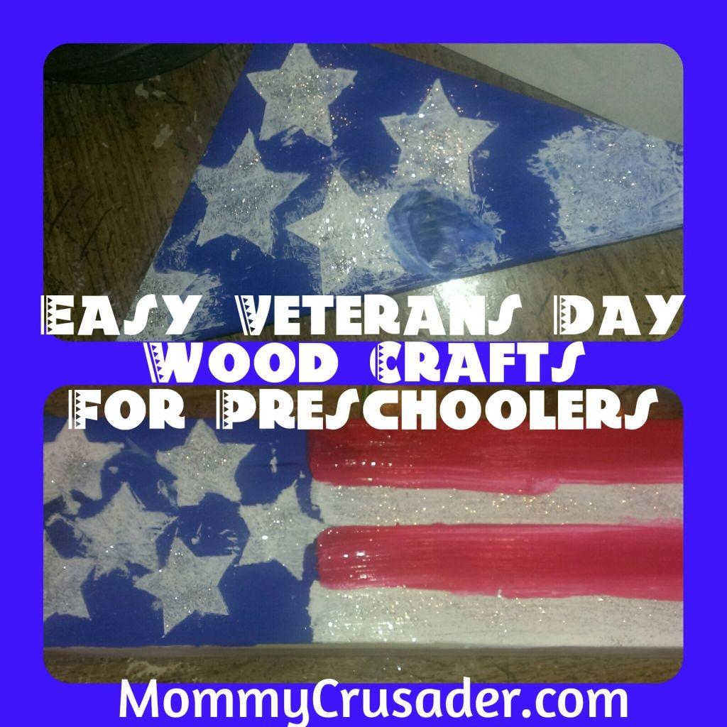 Easy Veterans Day Wood Crafts For Preschoolers
