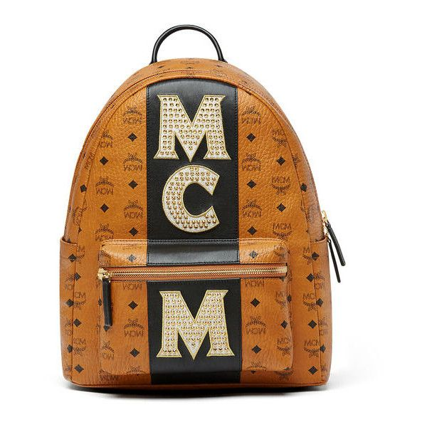 d23c1906b37c68 MCM Stark Backpack In Stripe Studs Visetos ( 1