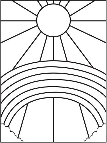 Rainbow And Sun Coloring Page Sun Coloring Pages Coloring Pages