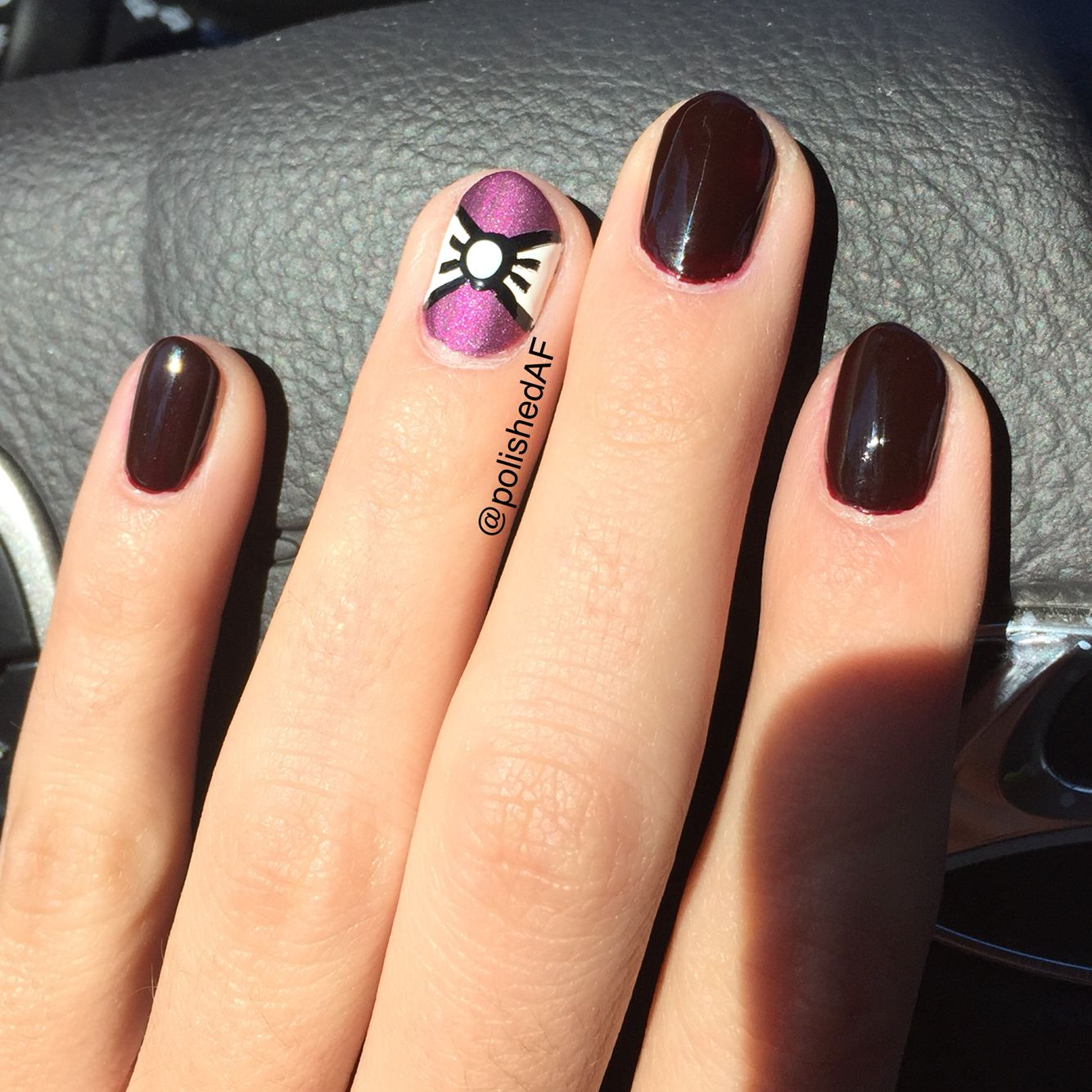 Nail Art Simple 2 Warna: Pin On PolishedAF Designs