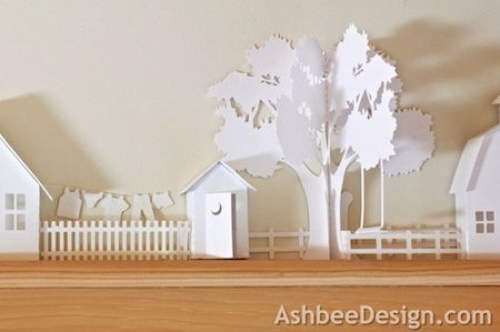 Ashbee Design Silhouette Projects: 3d Ledge Village • Backyard Necessities