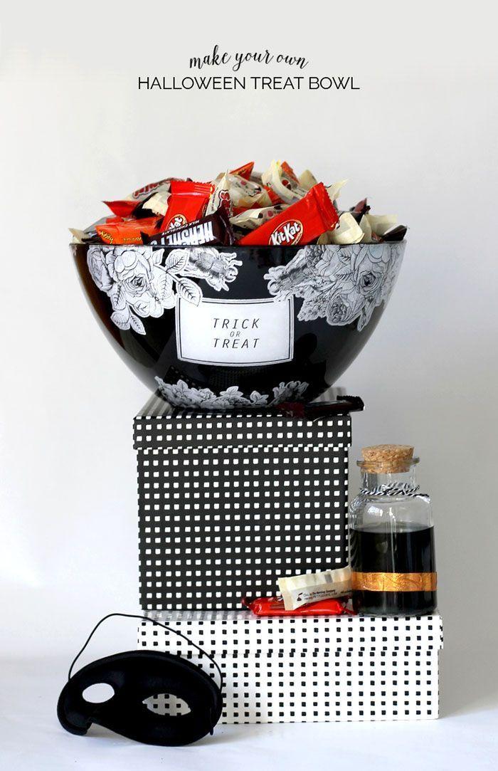 DIY Halloween Treat Bowl Pretty halloween, Diy halloween treats - halloween decoration printouts