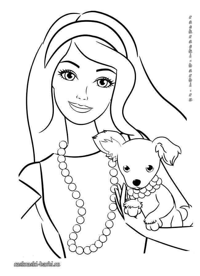 раскраски для девочек барби русалка шаблоны трафареты