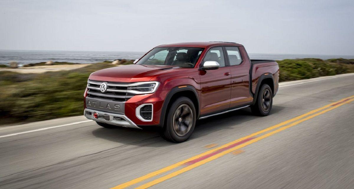 2021 Vw Atlas Tanoak First Look In 2020 New Pickup Trucks Cool Trucks New Pickup