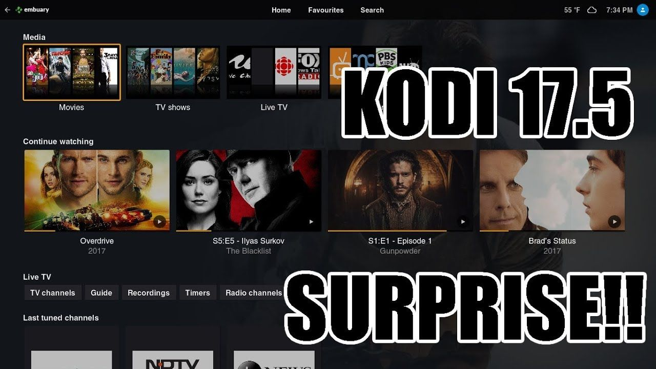 THE BEST FAST KODI 17 5 BUILD NOVEMBER 2017 EMBY BUILD KODI