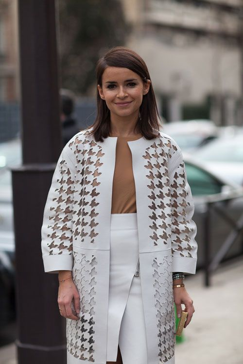 Miroslava Duma knows her way around a white look.   - HarpersBAZAAR.com
