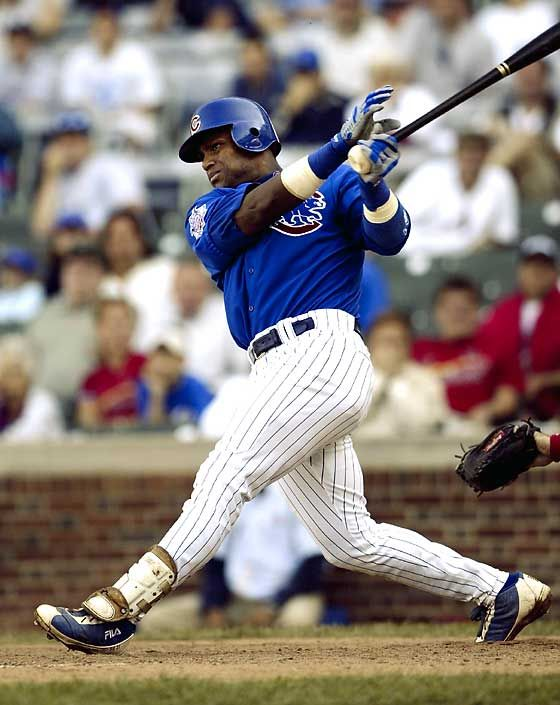 He Would Definitely Be Apart Of My Cubs Dream Team Sammy Sosa Chicago Cubs Baseball Cubs Baseball Chicago Cubs