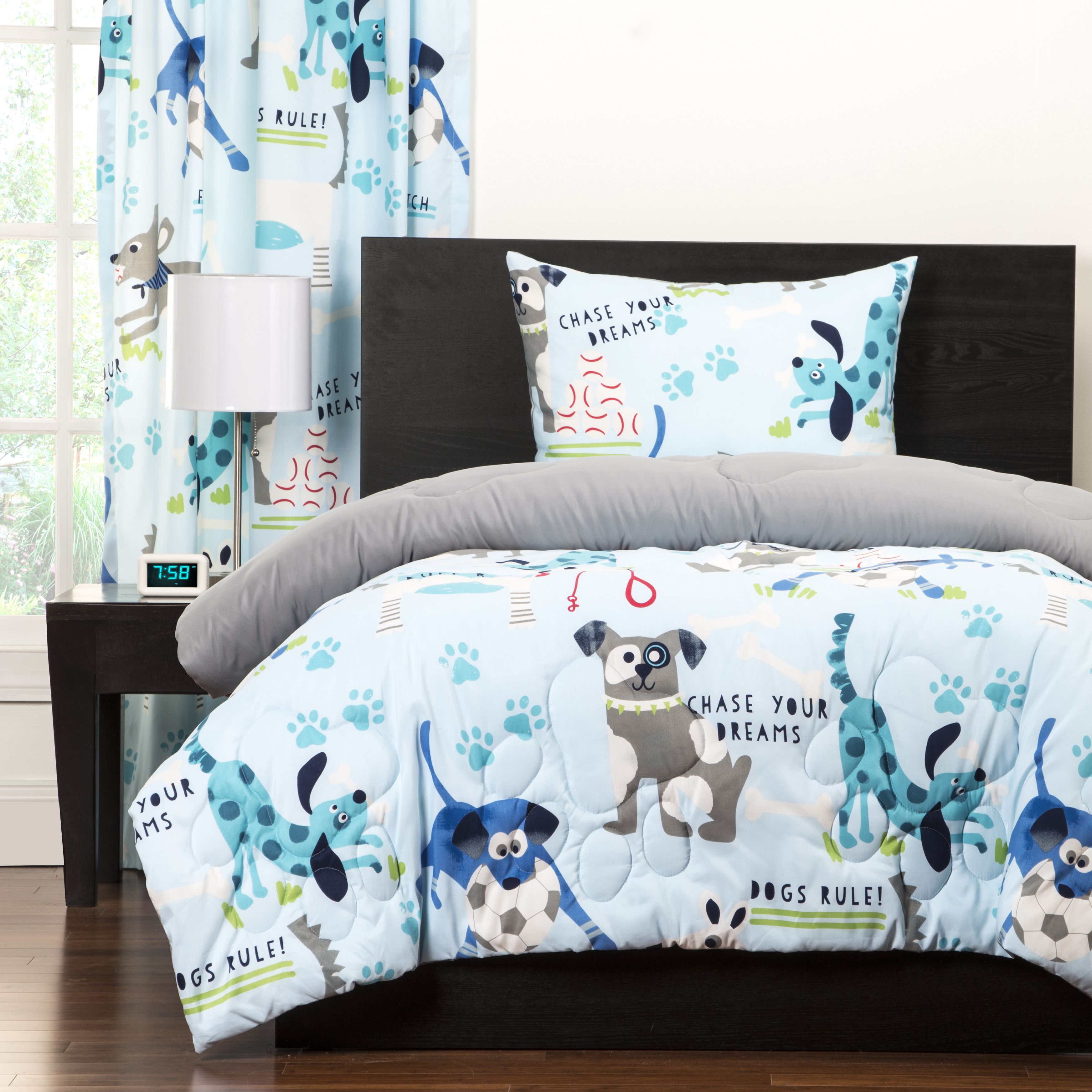 Kids Dog Print Puppy Bedding Twin Full Queen forter Set Silly