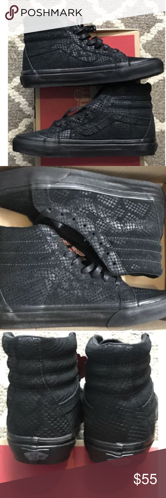 42fdf7b294 Vans Sk8 Hi Reissue DX Reptile Black Skate Shoes Vans Sk8 Hi Reissue DX  Reptile Black Skate Shoes Size Men 5.5 Women 7 Brand new in box Vans Shoes  Athletic ...