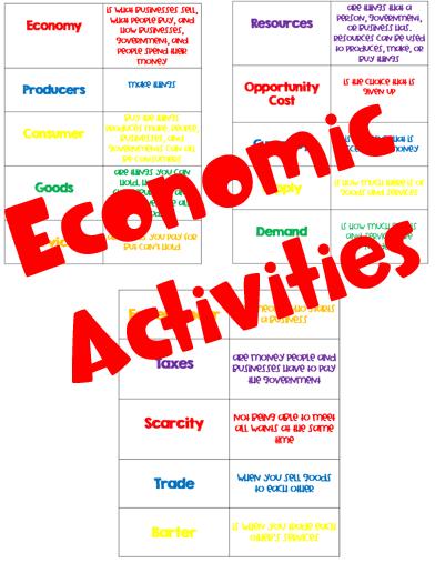 3rd Grade Economic Activities Economics Vocabulary Economics Economics For Kids