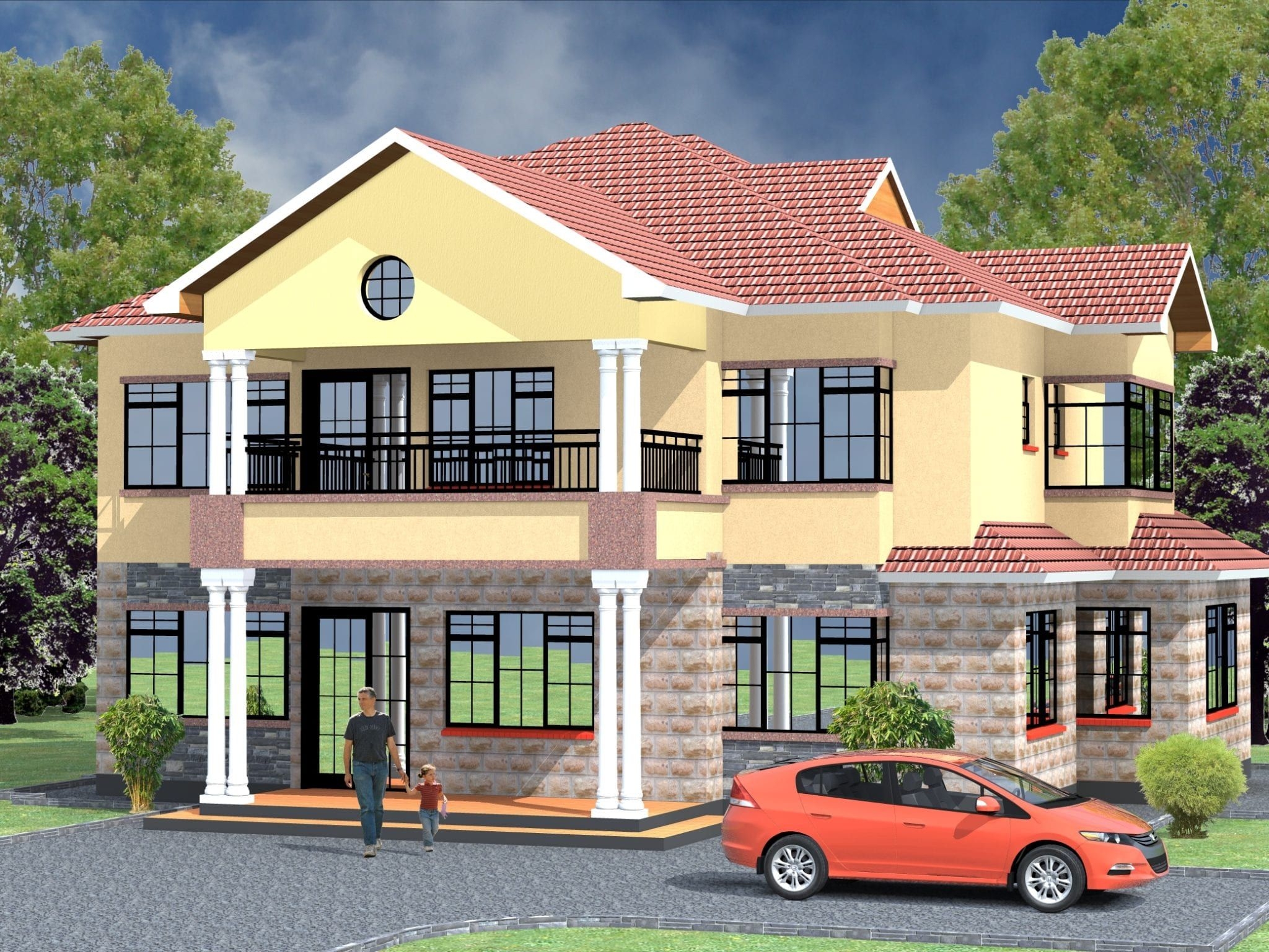 4 Bedroom Design 1045 A In 2021 Affordable House Plans House Plans House Projects Architecture