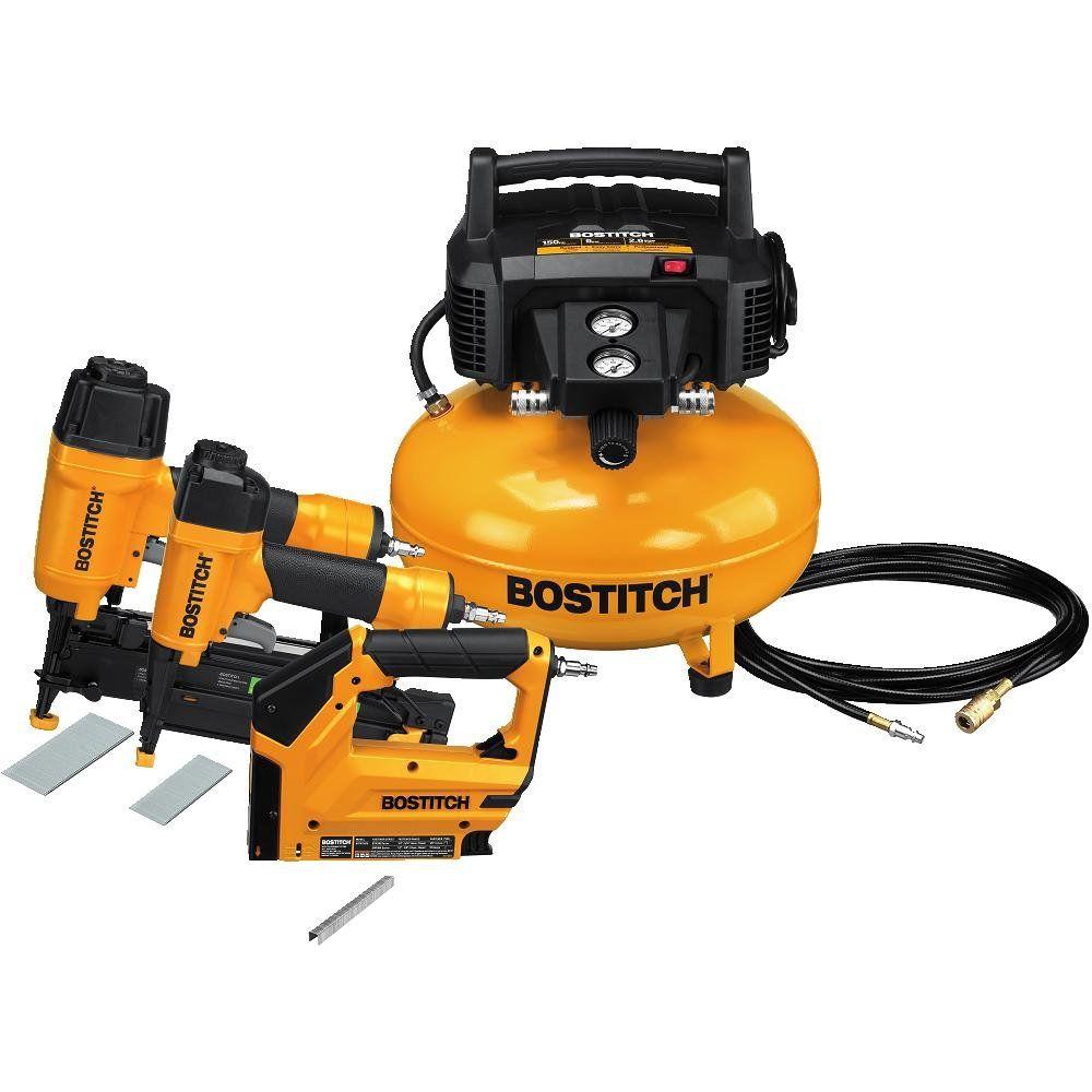 Bostitch u btfp3kit 3tool and compressor combo kit