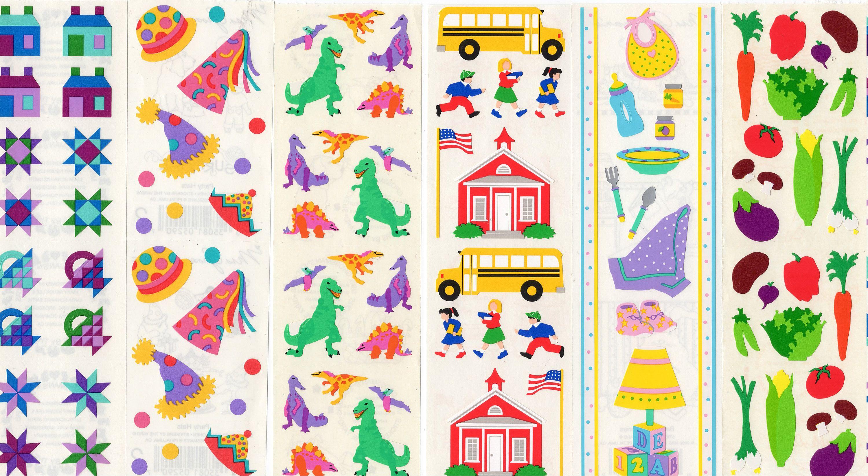 Mrs Grossman VACATION Sheet of Vacation FUN Stickers