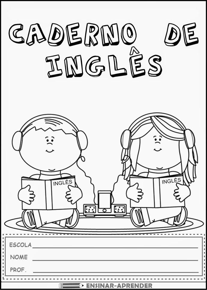Capa Para Caderno De Ingles Jpg 689 967 Pixels Aulas De Ingles