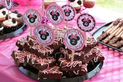 Minnie Mouse brownies